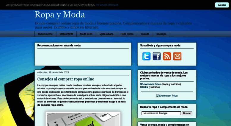 0be9df1d6 Access ropas.com.es. Ropa y Moda - Comprar ropa online - Ropas.com.es