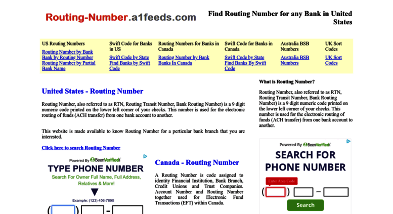 The Routing Number Canada {Forumaden}