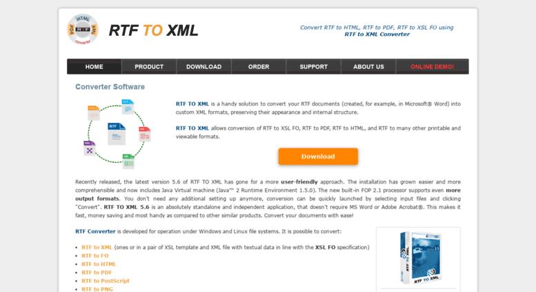 Access rtf2fo novosoft-us com  RTF TO XML Converter