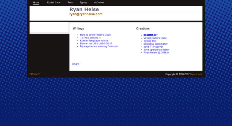 Access ryanheise com  Ryan Heise
