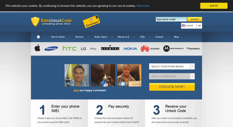 Access safeunlockcode com  IMEI Unlock Codes - Cell Phone