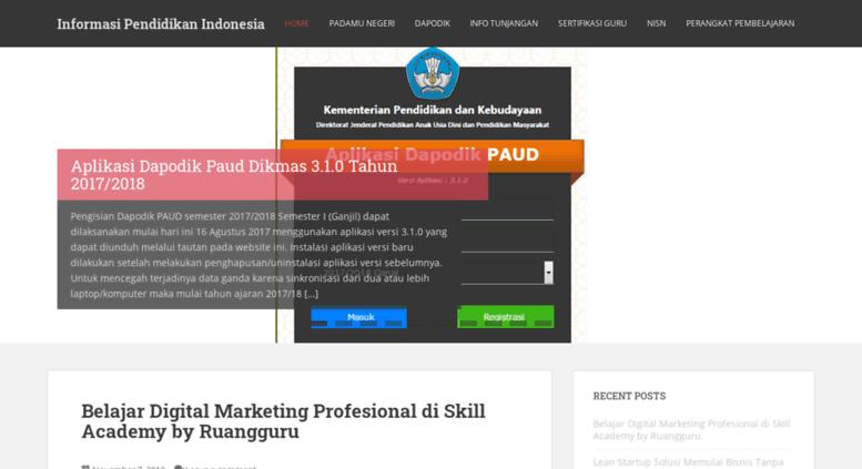Access Salamsatudata Web Id Informasi Pendidikan Indonesia