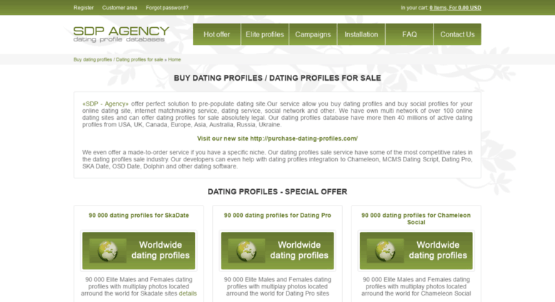Dating database for sale