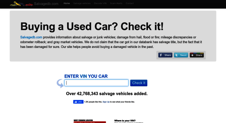 Access salvagedb com  Vehicle history check  Check your car