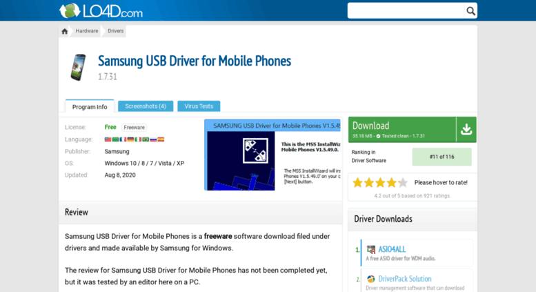 Access samsung-usb-driver-for-mobile-phones en lo4d com  Samsung USB