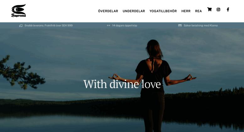 Access saprema.se. Yogakläder online - Ekologiska kläder med kärlek ... 7d3f61829a7ad