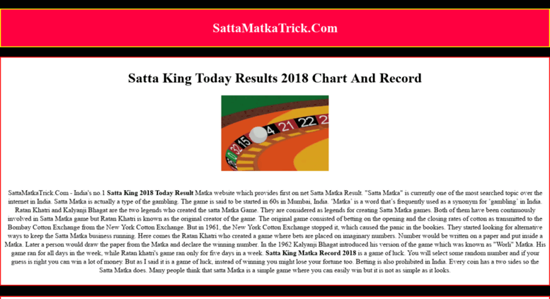 Access sattamatkatrick com  Satta King Chart 2019, Satta