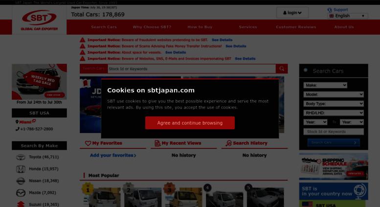 Access Sbtjapan Com High Quality Japanese Used Cars For Sale Sbt