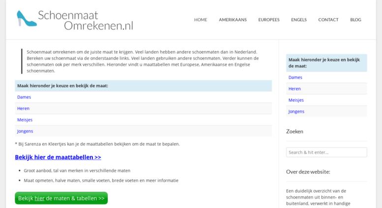 74dddd88191 Access schoenmaat-omrekenen.nl. Schoenmaat omrekenen US, UK dames ...