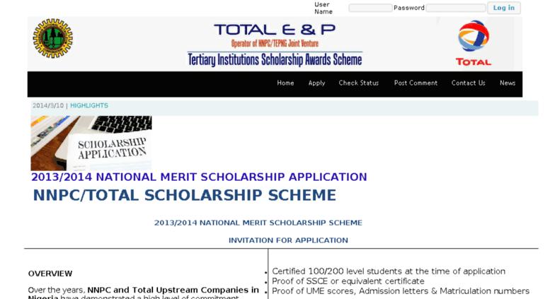 Access Scholarships Totalsdd Com Web Design Company In Nigeria Lagos Website Development Company