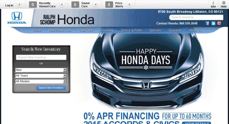 Honda Dealership Denver >> Access Schomp Honda Calls Net Denver Honda Dealer New