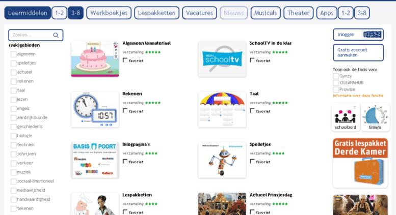 access schoolbordportaal.nl. leermiddelen en digibord portal voor