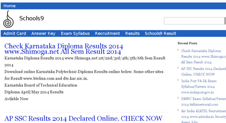 Access schools9result in  Schools9 Results 2014   School9