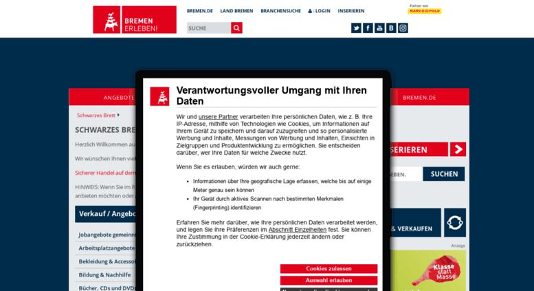 Access Schwarzesbrettbremende Schwarzes Brett Auf Bremende Der