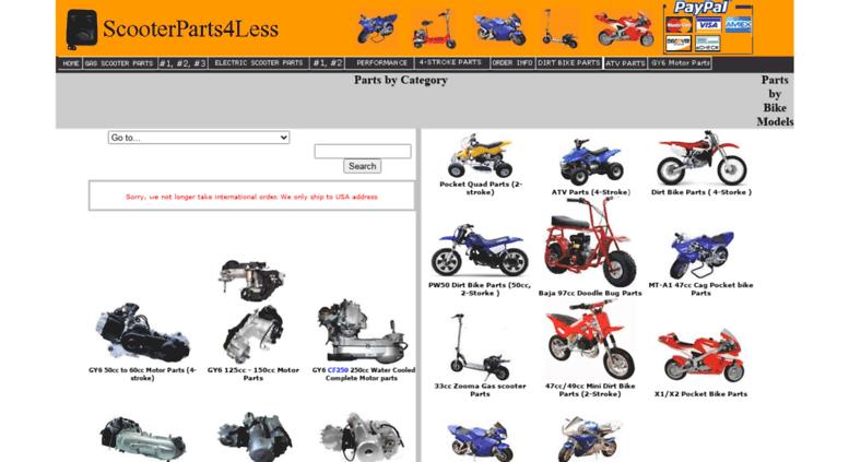 Access scooterparts4less com  ScooterParts4Less com Parts