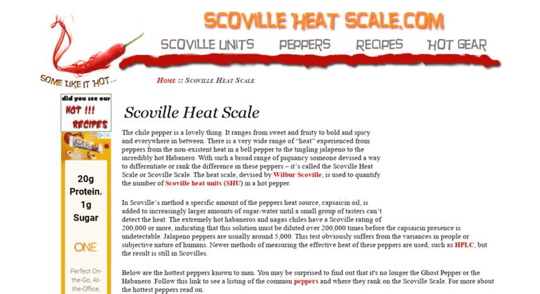 Access scovilleheatscale com  Scoville Heat Scale