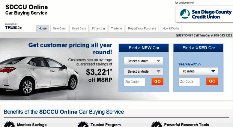Sdccu Customer Service >> Access Sdccu Truecar Com Sdccu Online Car Buying Service
