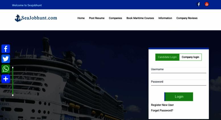 Access seajobhunt com  Jobs on Ships, Shipboard Jobs, Shore