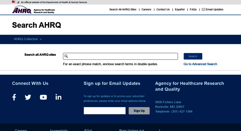Access search ahrq gov  AHRQ Search | Home Page