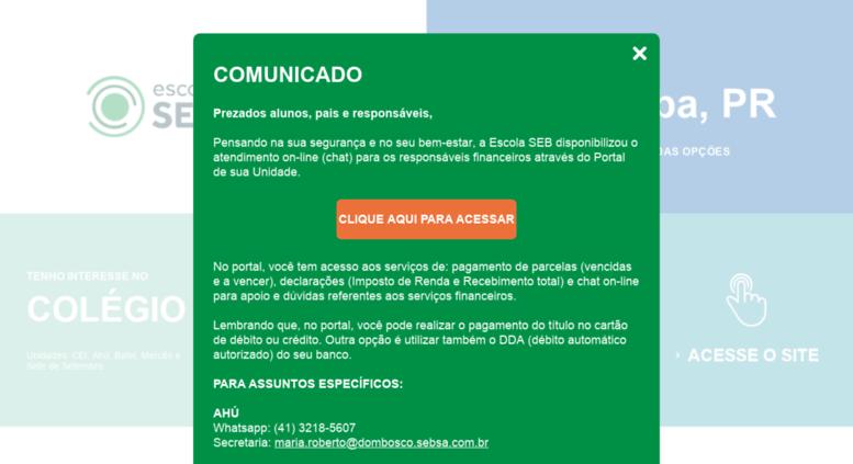 Access Sebdombosco Com Br Escola Seb Dom Bosco