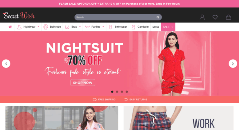 80f07527b97 Access secretwish.in. Online Nightwear Shopping India - Buy Bras ...