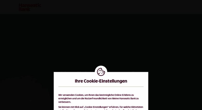 Access Securebanking Hanseaticbank De Online Banking Login Hanseatic Bank