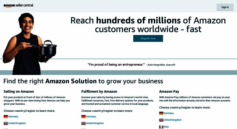 Amazon Seller Central Europe Address