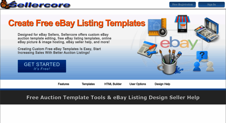 Access Sellercore Com Free Ebay Templates Auction Listing Html