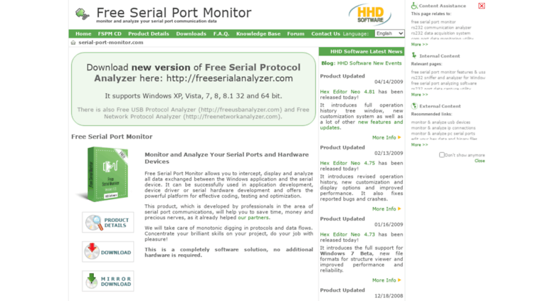 Access serial-port-monitor com  FREE Serial Port Monitor RS232