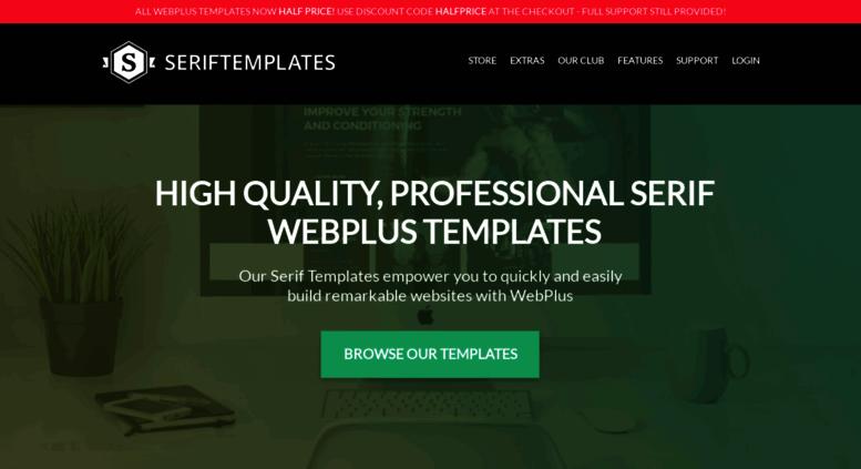 Seriftemplates Screenshot