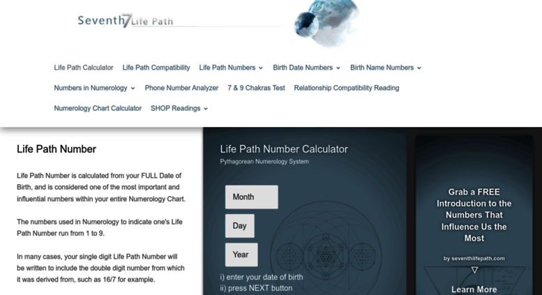 Access seventhlifepath com  LIFE PATH NUMBER Free Life Path
