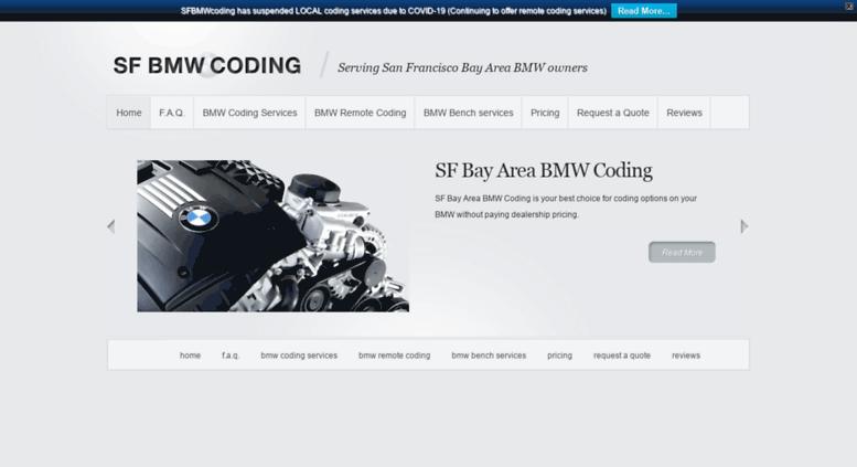 Access sfbmwcoding com  San Francisco Bay Area BMW Coding | Serving