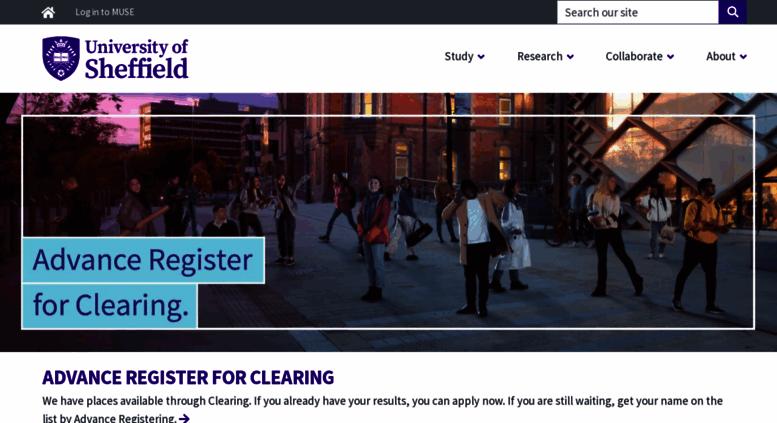 Access sheffield.ac.uk. A world-class university – a unique student ... fdf3d4284dd