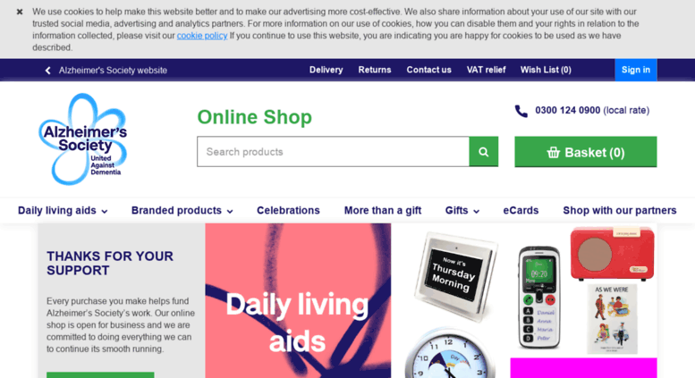 shop.alzheimers.org.uk screenshot