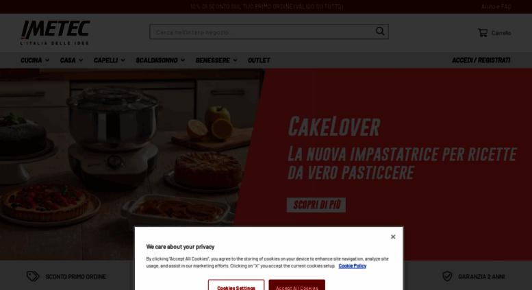 Imetec Home Page.Access Shop Imetec It Imetec Online Shop Home Page