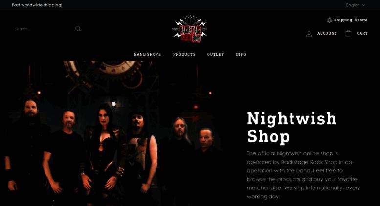 5f02eca4 Access shop.nightwish.com. Official Nightwish Shop - Backstage Rock Shop