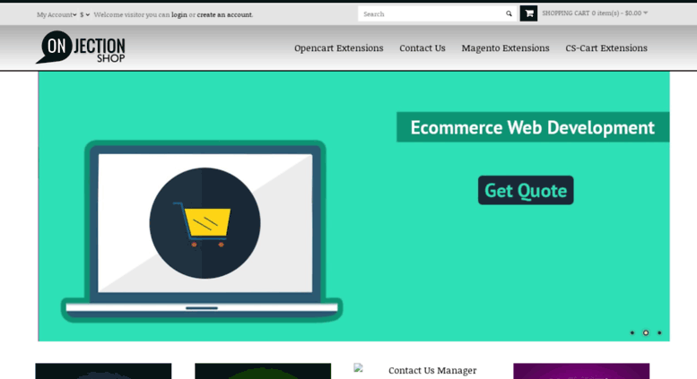 Access shop onjection com  Opencart, Cscart, Magento Extensions