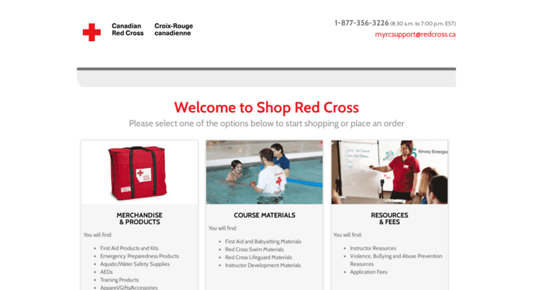 35020c3f64f Access shop.redcross.ca. Canadian Red Cross - Shop Online