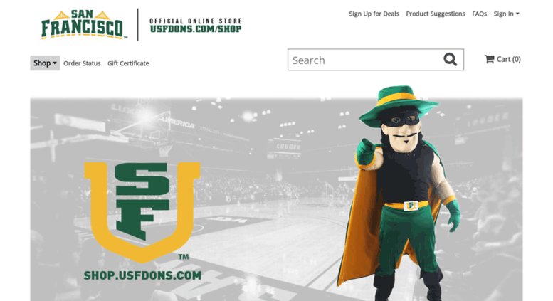 huge sale 7d0bd 69abe Access shop.usfdons.com. University of San Francisco Apparel ...