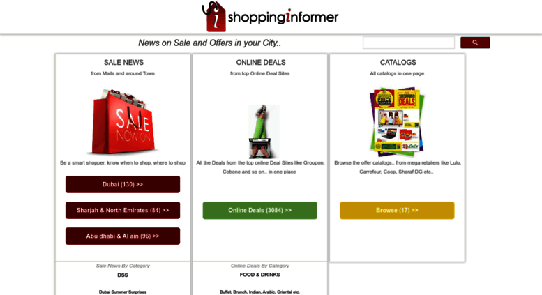 Access shoppinginformer com  News on Sale and Offers in Dubai & UAE
