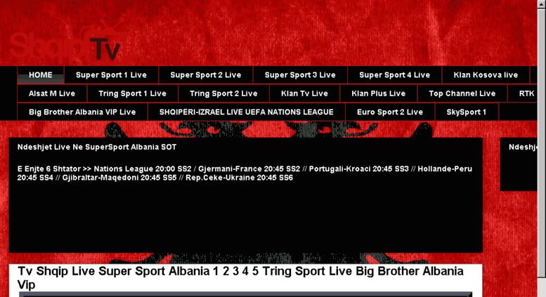 Access Shqiptvlivenet Tv Shqip Live Super Sport Albania Big