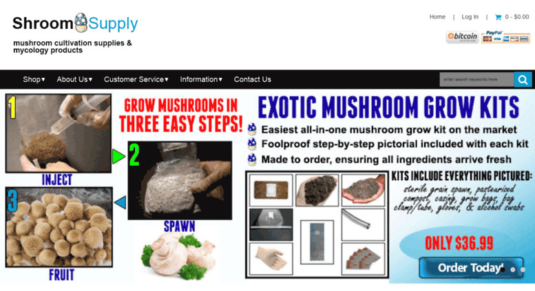 Access shroomsupply com  Mycology Supplies & Mushroom