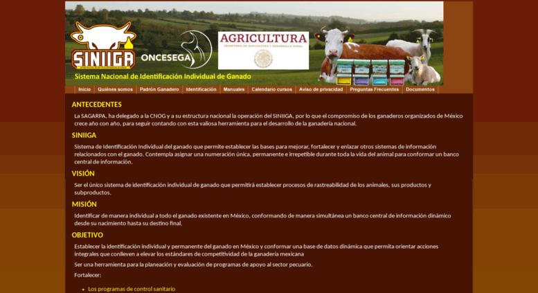 eb2d7bb3744a Access siniiga.org.mx. SINIIGA. Sistema Nacional de Identificación ...