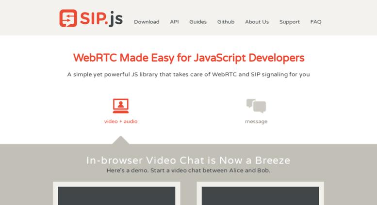 Access sipjs com  SIP Signaling JavaScript Library for
