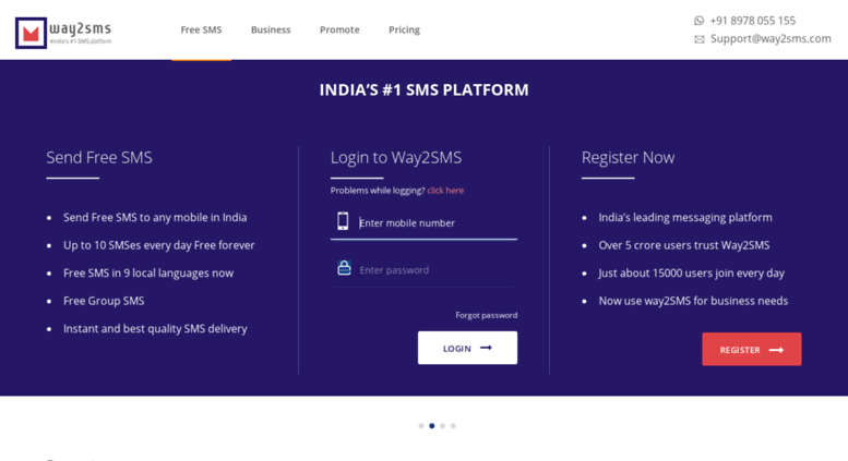 Madison : Way2sms send free sms to any mobile in india