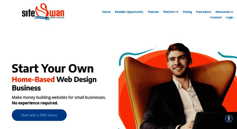 Access siteswan com  SiteSwan Website Reseller Program | White Label