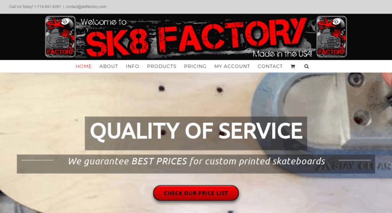 Access sk8factory com  Custom Skateboards Create your own graphics