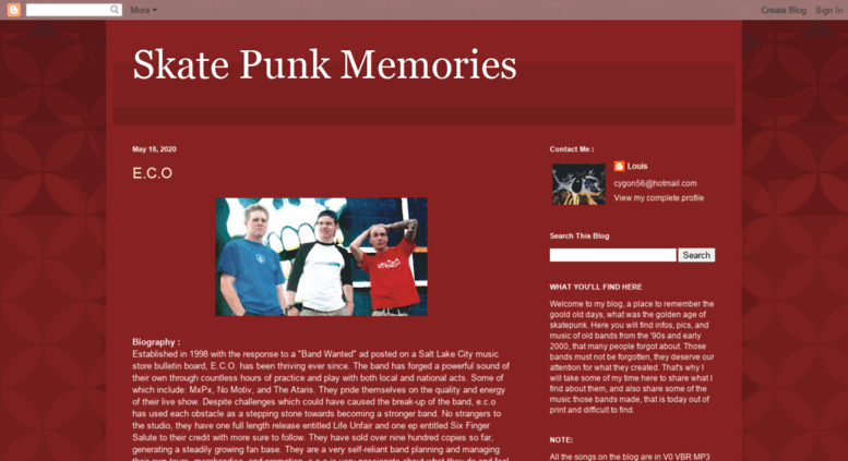 Access skatepunkmemories blogspot ca  Skate Punk Memories