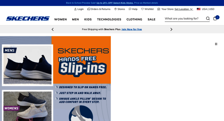 brand new 5b476 e3b9f skechers.com screenshot