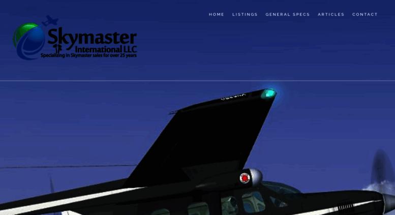 Access skymaster com  Skymaster Center – Skymaster Cessna Sales